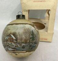 1980 Hallmark Ornament Glass Ball Ornament Vintage GRANDPARENTS Christmas In Box