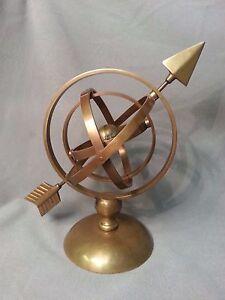 "Armillary Nautical Sphere Globe - Brass 10"""