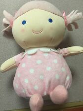 Kids Preferred Doll Polka Dots Pink Laughs Noise Pig Tails Blue Eyes