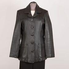 Women's Leather Jacket Size M Medium Black WILSONS