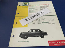 Mercedes Benz Ponton 180 Dc u. 190 Db / orig. BP Schmier-und Wartungsplan  8/66