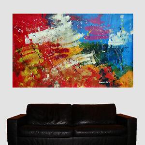 MARCEL WEHL XXL Acryl Gemälde Kunst Modern groß Bild Abstrakt gemalt groß bunt