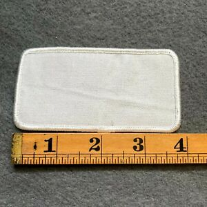 Blank Plain White Emroidered Patch D8