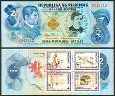 2 Pesos JOSE RIZAL DEATH ANNIVERSARY w/ ASEANPEX Stamp Commemorative Banknote H