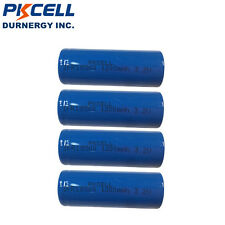 4 Pack 3.2v IFR18500 1200mAH LiFePO4 Rechargeable Battery Batteries Cell  PKCELL