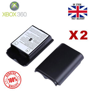 Xbox 360 Controller Battery Back Cover Case Shell - Black