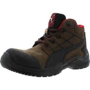 Puma Mens Krypton Mid Leather Safety Lifestyle Work Boots Shoes BHFO 7454