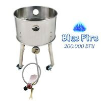200,000 BTU Outdoor Camping High Pressure Stainless Steel Propane Burner Stove