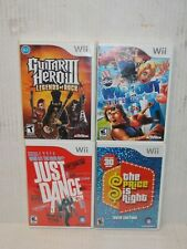 Lot 4 Nintendo Wii Guitar Hero 3 Just Dance Price Is Right Wipeout Video Games