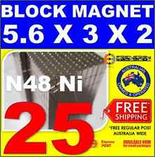 25X Block Neodymium Rare Earth Magnets 3X2X5.6 mm N48