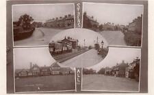 Strensall Nr York Multi View Railway Station RP old pc used 1917