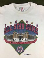 Vintage Youth M 10-12 1995 Texas Rangers MLB Baseball All-Star Game T-Shirt