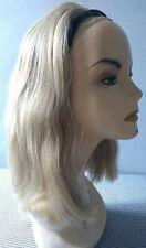 Vintage 100% Human Hair half Wig blonde thick