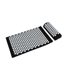 Massage Yoga Mat &Pillow Set Acupressure Relieve Stress Back Body Pain Spike Mat