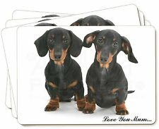 Dachshund Dogs 'Love You Mum' Picture Placemats in Gift Box, AD-DU2lymP
