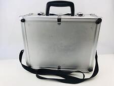 Pro Aluminium Silver Medium Size Briefcase Hard Carry Bag