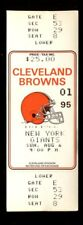 Football Ticket New York Giants 1995 8/6 Cleveland Browns