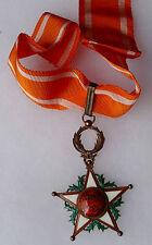 Medaglietta Marocco Croce Commandeur ORDRE DEL OUISSAM ALAOUITE Argento
