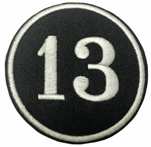 Lucky Number 13 Embroidered Patch Iron / Sew-On Decorative Applique Biker Emblem