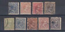 España 1889 Rey Alfonso XIII sellos Usados con bisagras sin goma de mascar (#909)