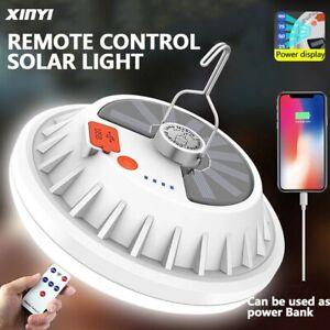 60W LED Solarleuchte Glühbirne Zeltlicht Camping Garten Lampe mit Solar Panel