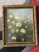 Ölbild Blumen Antik