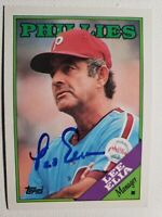 1988 Topps Lee Elia Autograph Phillies Card Cubs White Sox Auto #254 Signed