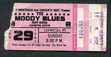 1981 Moody Blues concert ticket stub Rupp Lexington Ky Long Distance Voyager