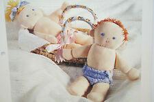 Muñeca de trapo, muñecas del bebé patrón de costura (SP02)