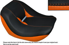 BLACK & ORANGE CUSTOM FITS HARLEY VROD NIGHT ROD SPECIAL FRONT SEAT COVER
