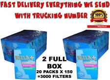 Rizla Slim Cigarette Filter Tips  6 mm 2 x FULL BOX 20 Packs x 150=3000 Filters