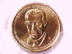 2015 D Lyndon B. Johnson Presidential Dollar PCGS MS 67 Position A 32479763
