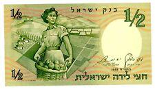 Israel . P-29a . 1/2 Lira . 1958 . Choice *Unc*