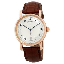 Chronoswiss Kairos Slver Dial Mens 18K Rose Gold Leather Watch CH-2821KR/12-1