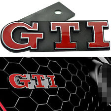 RED GTI Grill Emblem For VW Polo GOLF MK GTI Grille Car Chrome 1 Pcs Badge S183