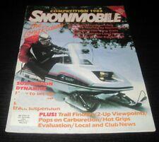 Vintage Snowmobile Magazine polaris yamaha ski doo Kawasaki arctic cat 1982