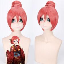 Love Live! Maki Nishikino Bun Orange Cosplay Costume Anime party Hair Wig Z179