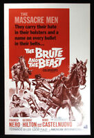 The Brute and the Beast-1968 Franco Nero Movie Pressbook-ads, poster photos