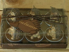wundervolle Igel Teelichter, 6er Set in dekorativer Box