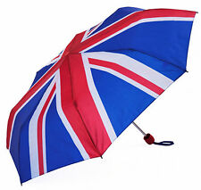 New Compact Umbrella Union Jack Design Manual Open Unisex 55cm Length Susino