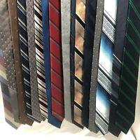 "DESIGNER Neckties Neck Tie Lot of 16 STRIPES & Solids Shapes 3"" Wide GREAT GIFT!"