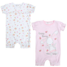 Baby Girls Bunny Short Print Frilled Romper Sleepsuit Cotton Newborn - 12 Months