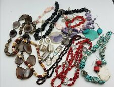 Stone/ Glass Wearable Mixed Jewelry Lot 2.4lbs MK221