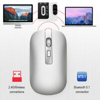 HXSJ Rechargeable 2.4Ghz Wireless BT 5.1 Dual Mode Mouse 1600DPI Universal