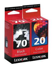 Lexmark 70/20 (12A1970/15M0120) Ink Cartridge 2-Pack GENUINE NEW