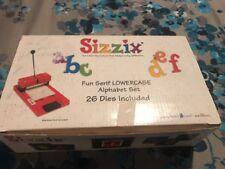 "Sizzix "" Fun Serif Lowercase  Letters"" Alphabet Set 26 Dies"