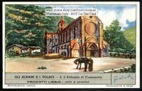 Abbey Of Fossanova Lazio Italy 60+ Y/O Trade Ad Card