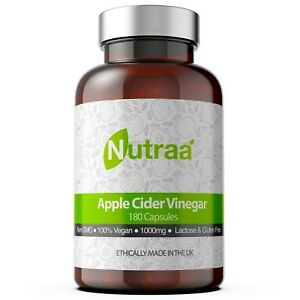 Apple Cider Vinegar 1000mg - 180 Capsules - 90 Day Supply - Made in the UK
