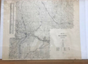 Vintage original map of Weld County CO 1948. Published by Tribune.