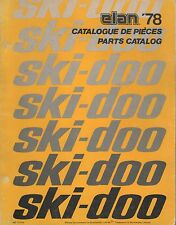 1978 SKI-DOO  ELAN  SNOWMOBILE PARTS MANUAL 480 1070 00 (592)
